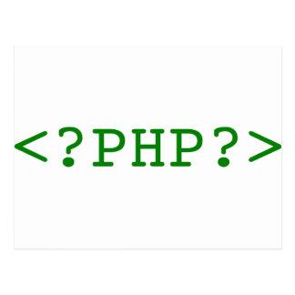 PHP Tags Postcard