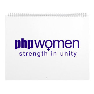 PHP Women 2010 (large) Wall Calendar