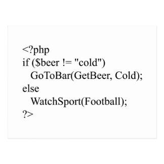 PHP y cerveza Postales