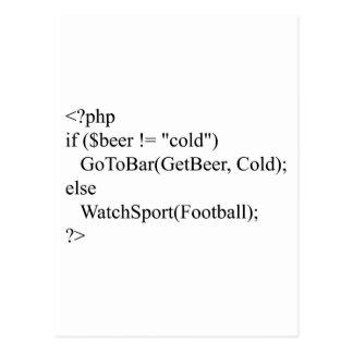 PHP y cerveza Tarjetas Postales