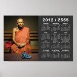 Phra Dhammayanmuni 2012/2555 SEA calendario Poster