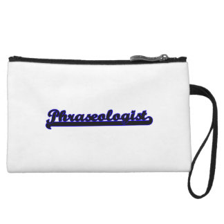 Phraseologist Classic Job Design Wristlet Clutch