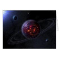 sci, fractals, space, planet, alien, desktop wallpaper, Card with custom graphic design