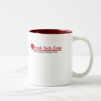 Phreak Tech Zone Red w/ P logo back Two-Tone Coffee Mug