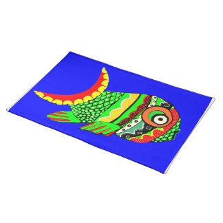 Phred Phish Place Mat Cloth Placemat