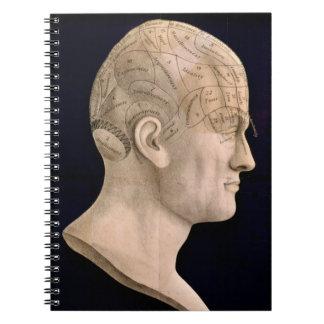 Phrenology 1834 spiral note books