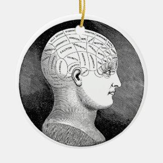 Phrenology Ceramic Ornament