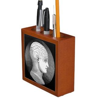 Phrenology Head Diagram Pencil Holder