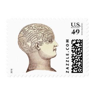 Phrenology Stamp