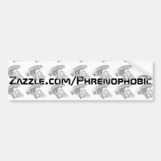 Phrenophobic Phrenomorph Bumper Sticker