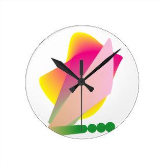 Phresh enrrollado colorido reloj redondo mediano