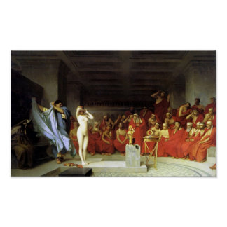 Phryne before the Areopagus Poster