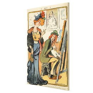 Phryne: caricature of an artist's model canvas print