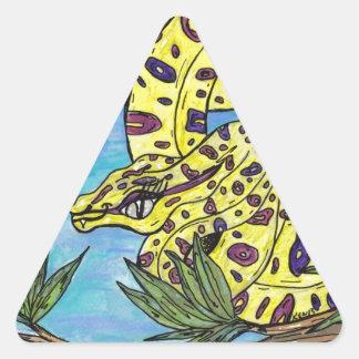 Phryne the Python Triangle Sticker