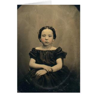 Phtograph viejo de un chica del Victorian Tarjeta De Felicitación