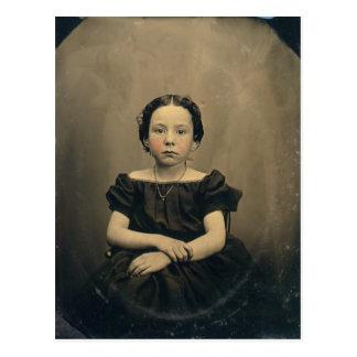 Phtograph viejo de un chica del Victorian Postales