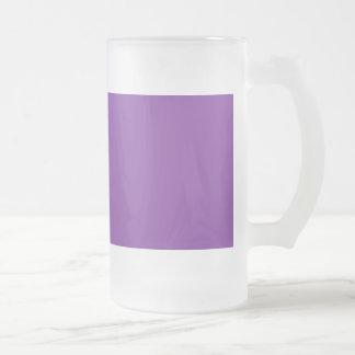 Phuket Purple Royal Violet Indigo Frosted Glass Beer Mug