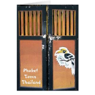 Phuket Town, Thailand Greeting Card
