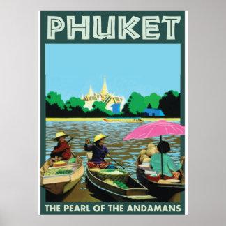 Phuket vintage Travel Poster. Poster