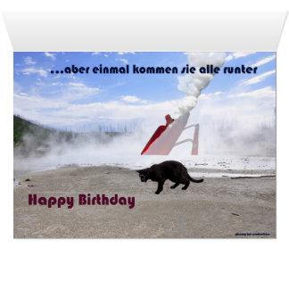Phunny Kat Flug Geburtstag Grußkarten