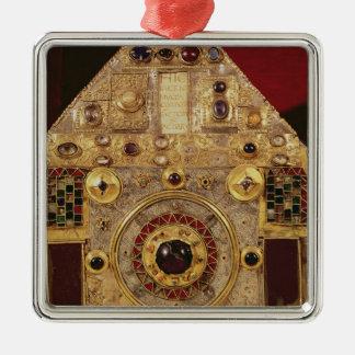 Phylactery or pentagonal reliquary metal ornament