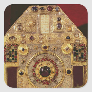 Phylactery or pentagonal reliquary square sticker