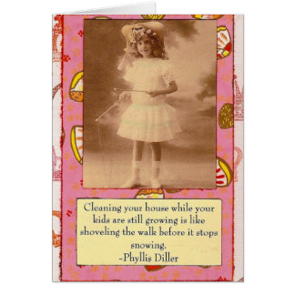 Phyllis Diller Quote Collage Card