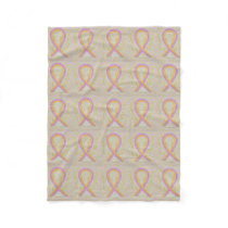 Phyllodes Breast Cancer Awareness Blanket