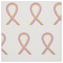 Phyllodes Breast Cancer Awareness Ribbon Fabric