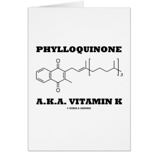 Phylloquinone A.K.A. Vitamin K (Chemical Molecule) Cards