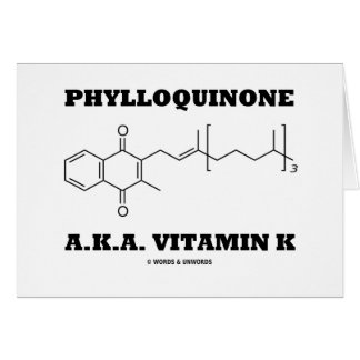 Phylloquinone A.K.A. Vitamin K (Chemical Molecule) Greeting Cards