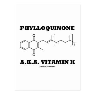Phylloquinone A.K.A. Vitamin K (Chemical Molecule) Postcards