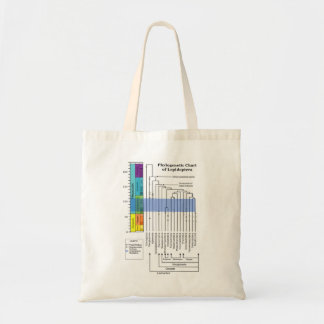 Phylogenetic Chart of Lepidoptera Canvas Bag