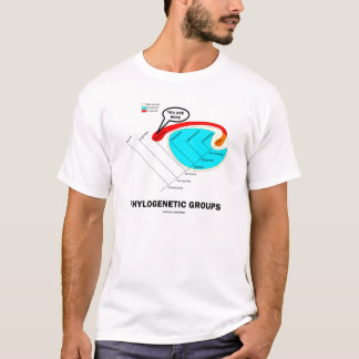 Phylogenetic Groups - You Are Here T-Shirt