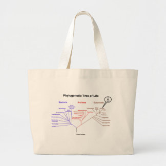 Phylogenetic Tree Of Life - You Are Here (Biology) Large Tote Bag