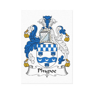 Phypoe Family Crest Stretched Canvas Prints