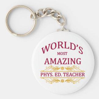Phys. Ed. Profesor Llavero Redondo Tipo Pin