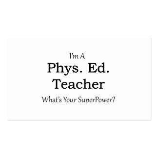 Phys. Ed. Teacher Business Card