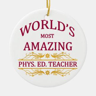 Phys. Ed. Teacher Ceramic Ornament