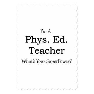 Phys. Ed. Teacher 5x7 Paper Invitation Card