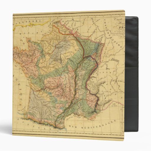 Physical and mineralogical map of France Binder