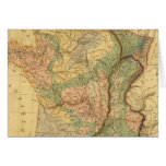 Physical and mineralogical map of France Card