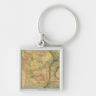 Physical and mineralogical map of France Key Chain