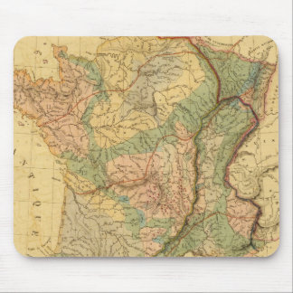 Physical and mineralogical map of France Mouse Pad