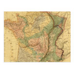 Physical and mineralogical map of France Postcard