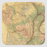 Physical and mineralogical map of France Square Sticker