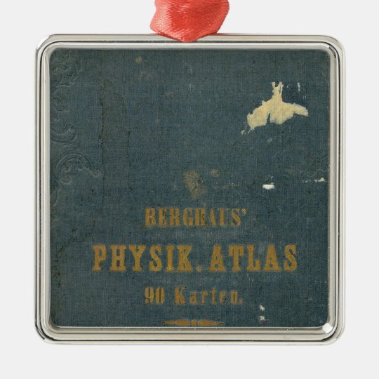 Physical Atlas version 1 Metal Ornament