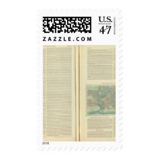 Physical Chart of the Atlantic Ocean continued Postage Stamp