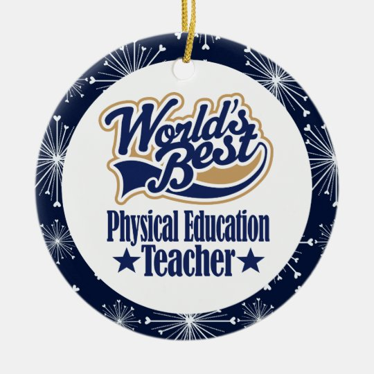 Physical Education Teacher Gift Ceramic Ornament