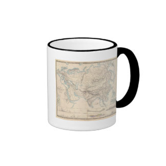 Physical Europe & Asia Ringer Coffee Mug